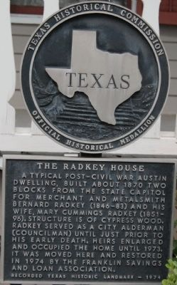 The Radkey House Marker image. Click for full size.