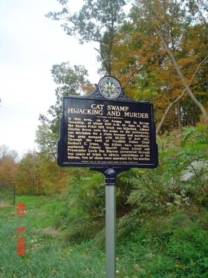 Cat Swamp Hijacking and Murder Marker image. Click for full size.