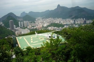 View of Rio from Urca Mountain near marker image. Click for full size.