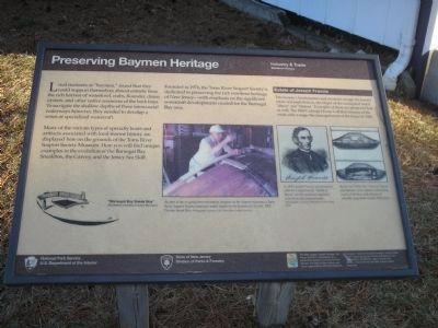 Preserving Baymen Heritage Marker image. Click for full size.
