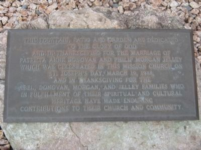 Garden Dedication Plaque image. Click for full size.