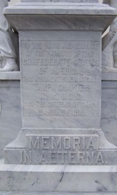 Tampa Confederate Monument , west face image. Click for full size.