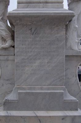 Tampa Confederate Monument , east face image. Click for full size.