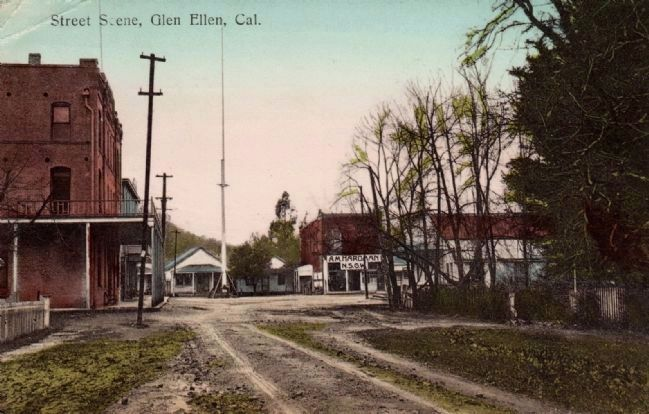 Glen Ellen Street Scene - 1910 image. Click for full size.