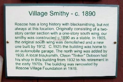Village Smithy - c.1890 Marker image. Click for full size.