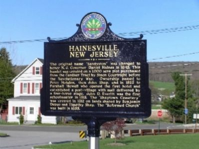Hainesville, New Jersey Marker image. Click for full size.