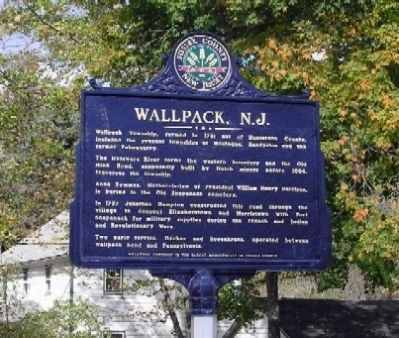 Wallpack, N.J. Marker image. Click for full size.