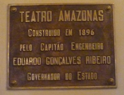 Teatro Amazonas (interior marker) image. Click for full size.