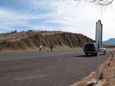 One of highway cuts referenced on historical marker image. Click for full size.