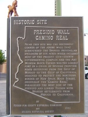 Presidio Wall Camino Real Marker image. Click for full size.