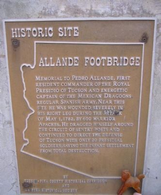 Allande Footbridge Marker image. Click for full size.