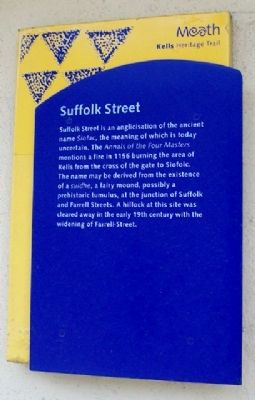 Suffolk Street Marker image. Click for full size.