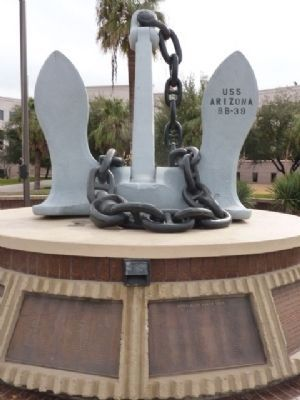 An Anchor from the U.S.S. Arizona image. Click for full size.