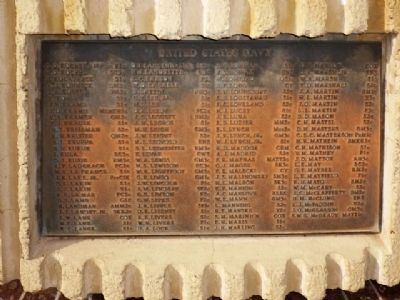 Naval Casualty List, Seventh Plaque Clockwise image. Click for full size.