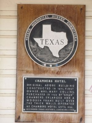 Chambers Hotel Marker image. Click for full size.