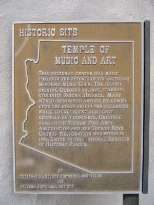 Temple of Music and Art Marker image. Click for full size.