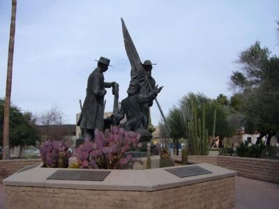Mormon Battalion Memorial Sculpture image. Click for full size.