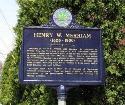 Henry W. Merriam Marker image. Click for full size.