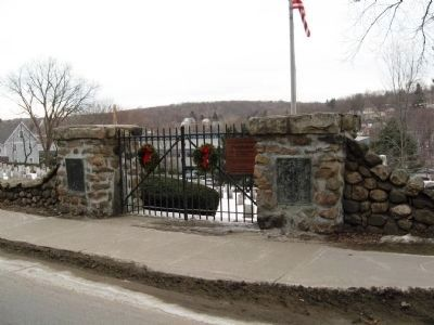 The Entrance Gate to Old Watertown Cemetery image. Click for full size.