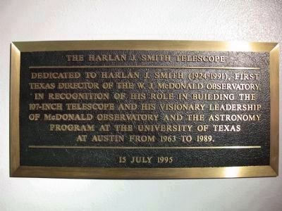 Harlan J. Smith plaque image. Click for full size.