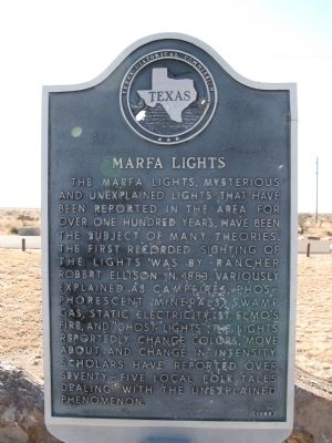 Marfa Lights Marker image. Click for full size.