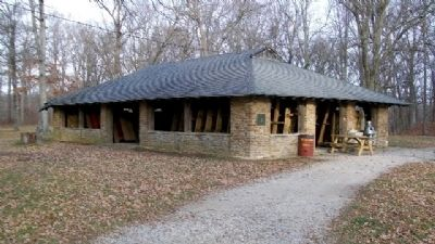 CCC Built Stone Shelter House image. Click for full size.