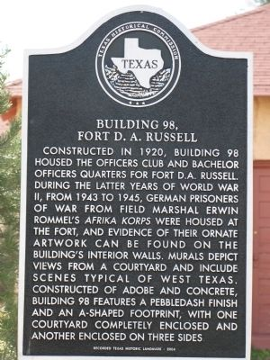 Building 98, Fort D.A. Russell Marker image. Click for full size.