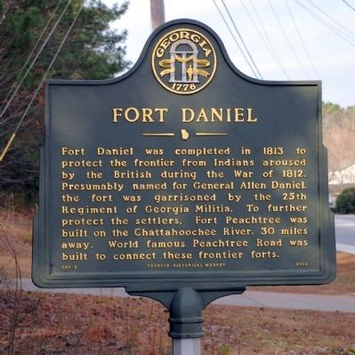 Fort Daniel Marker image. Click for full size.