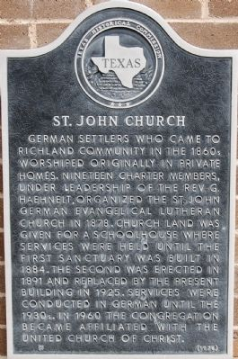 St. John Church Marker image. Click for full size.