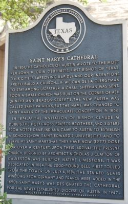 Saint Mary's Cathedral Marker image. Click for full size.