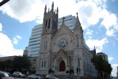 Saint Mary's Cathedral and Marker image. Click for full size.