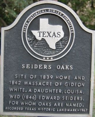 Seiders Oak Marker image. Click for full size.