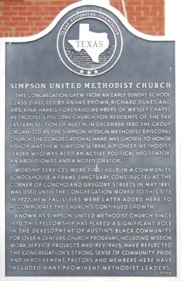 Simpson United Methodist Church Marker image. Click for full size.