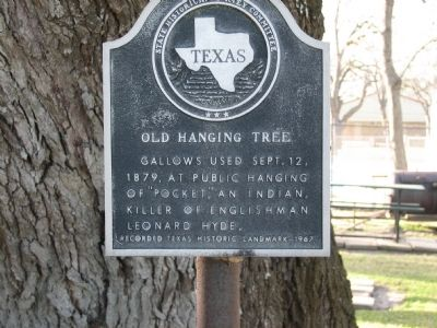 Old Hanging Tree Marker image. Click for full size.