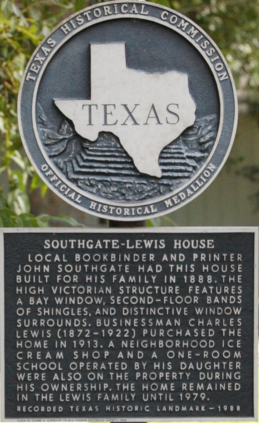 Southgate-Lewis House Marker