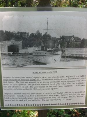 Boat House and Pier Marker image. Click for full size.