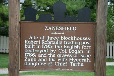 Zanesfield Marker image. Click for full size.