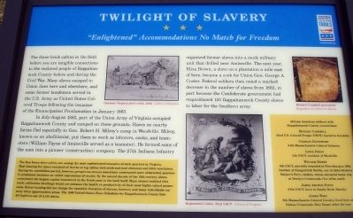 Twilight of Slavery Marker image. Click for full size.