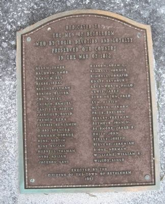 Bethlehem War of 1812 Memorial image. Click for full size.