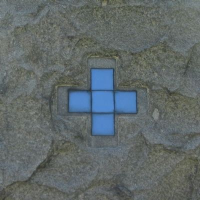 Blue Greek Cross on the Right Side image. Click for full size.