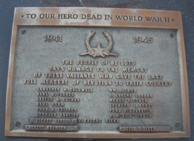 To Our Hero Dead in World War II Marker image. Click for full size.