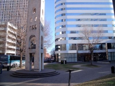 Great Turning Basin site at James Center Plaza image. Click for full size.