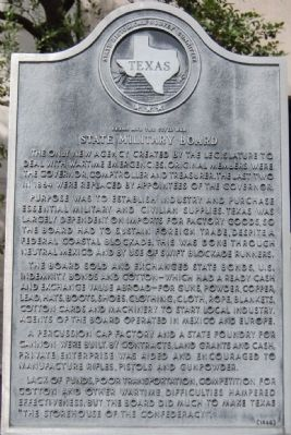 Texas and the Civil War State Military Board Marker image. Click for full size.