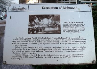 Evacuation of Richmond Marker image. Click for full size.