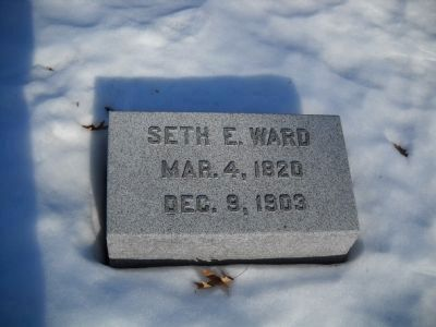 Gravesite of Seth Ward image. Click for full size.