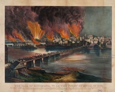 The fall of Richmond, Va. on the night of April 2d. 1865 image. Click for full size.