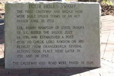 Four Holes Swamp Marker image. Click for full size.
