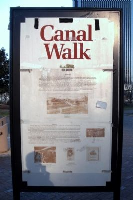 Canal Walk Marker (front panel) image. Click for full size.