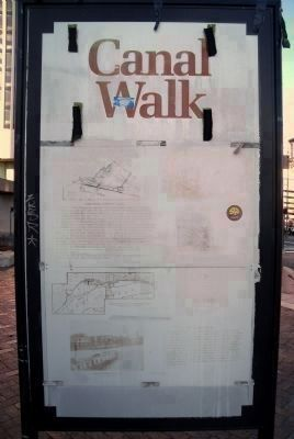 Canal Walk Marker (rear panel) image. Click for full size.
