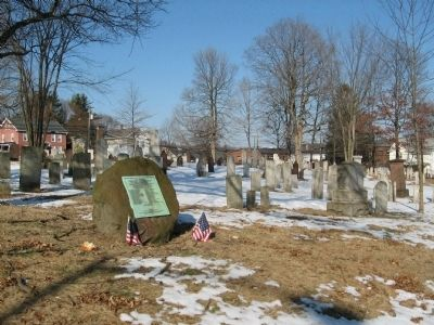 The Patriots Marker and Headstones in the Broad Street Cemetery image. Click for full size.